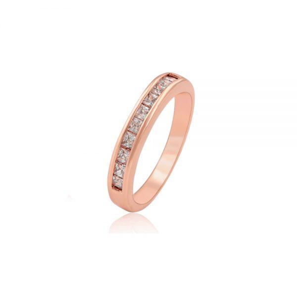 anillo baño oro rosado zirconias churumbelajoyeria mexico queretaro