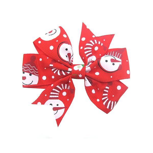 moño navideño rojo niña okami joyeria queretaro