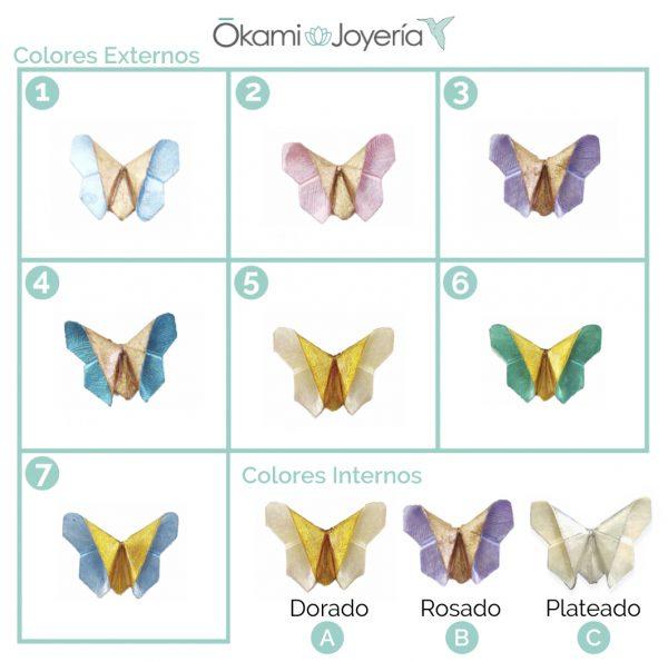 collar origami mariposa joyeria mexico queretaro