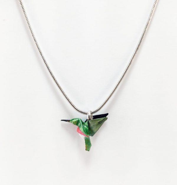 collar de origami papel hecho a mano mexicano joyeria artesanal queretaro mexico okami joyeria colibri