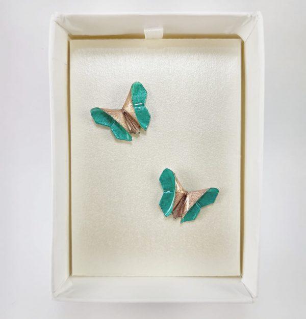 aretes de origami papel hecho a mano mexicano joyeria artesanal queretaro mexico okami joyeria mariposa