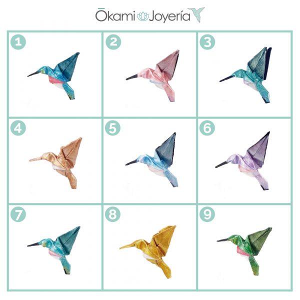 okami joyeria bisuteria mexico queretaro origami colibris collar relicario pulsera aretes colibris artesanal origami
