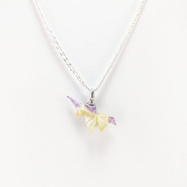 collar de origami papel hecho a mano mexicano joyeria artesanal queretaro mexico okami joyeria unicornio