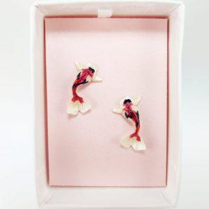 aretes pez koi okamijoyeria origami