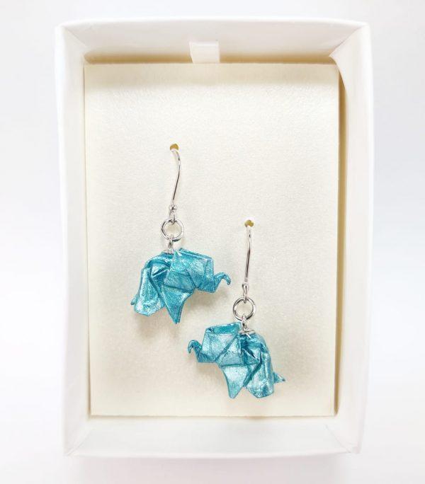 arete elefante origami okami joyeria