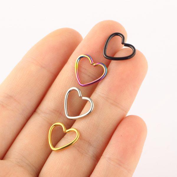 piercing perforacion corazon acero inoxidable oreja rook helix okami joyeria mexico queretaro