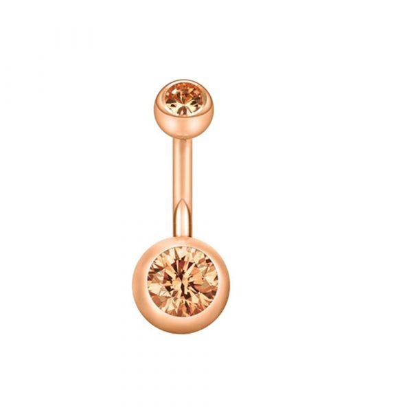 piercing perforacion ombligo 14g acero inoxidable quirurgico okami joyeria mexico queretaro