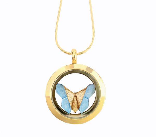 collar relicario mariposa okami joyeria mexico queretaro