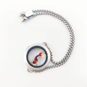 okami joyeria collar capsula acero inoxidable mexico queretaro regalo pez koi