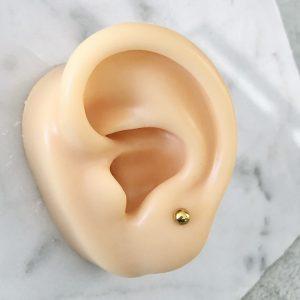 piercing bola piercing estrella dorado acero inoxidable perforaciones okami joyeria mexico queretaro